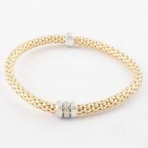 Gold Coreana Triple Ring Bangle