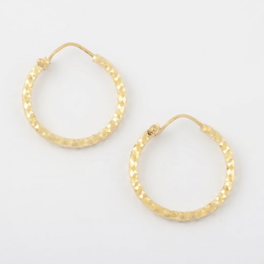 Virtue Exquisite Gold Diamond Cut Hoops