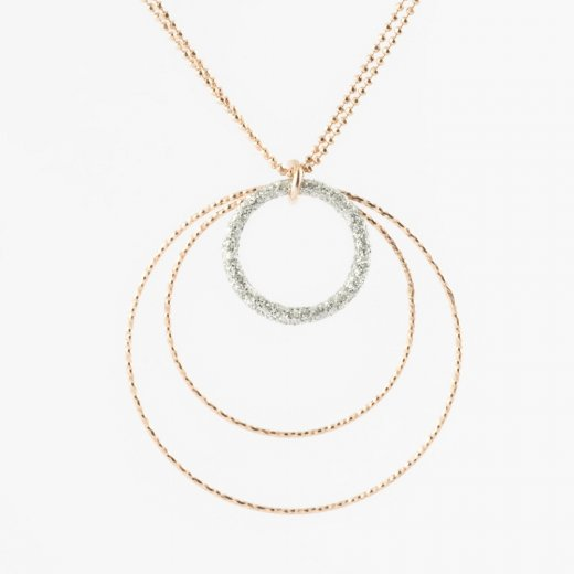 Virtue Exquisite Gold Triple Circle Necklace