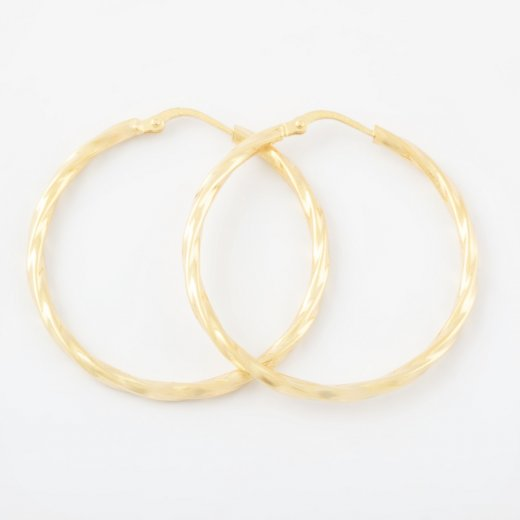 Virtue Exquisite Gold Twisted Hoops