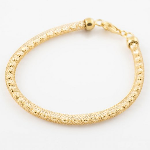 Virtue Exquisite Gold Woven Crystal Mesh Bracelet