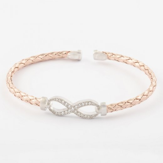 Virtue Exquisite Infinity Knot Half Bangle
