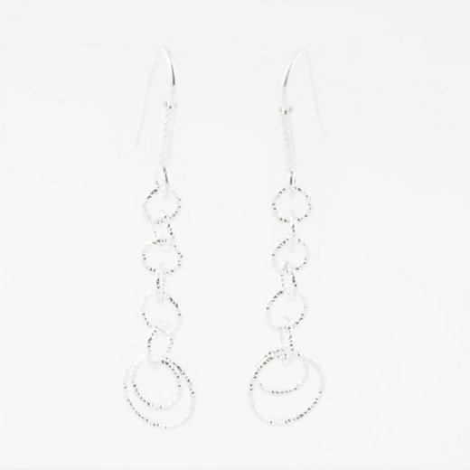 Virtue Exquisite Long Interlocking Ring Earrings