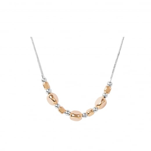 Virtue Exquisite Rose Gold and Silver Beaded Necklace