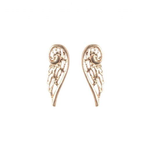 Virtue Exquisite Rose Gold Angel Wing Stud Earrings