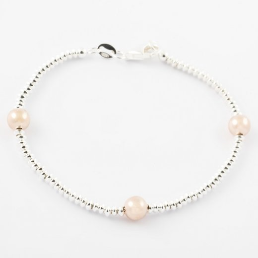 Virtue Exquisite Rose Gold Ball and Ring Bracelet