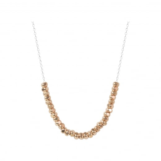 Virtue Exquisite Rose Gold Beaded Necklace