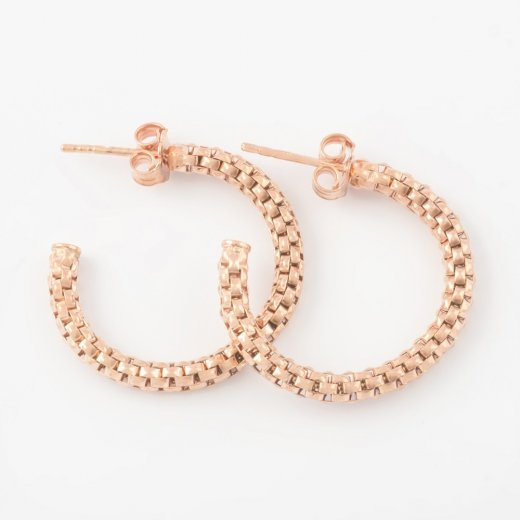 Virtue Exquisite Rose Gold Coreana Hoop Earrings