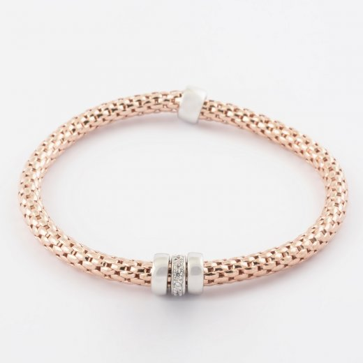 Virtue Exquisite Rose Gold Coreana Triple Ring Bangle