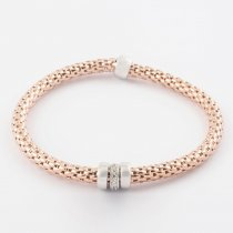 Rose Gold Coreana Triple Ring Bangle