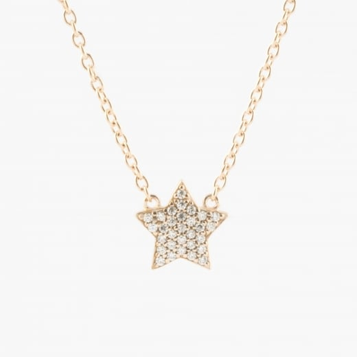 Virtue Exquisite Rose Gold CZ Star Necklace