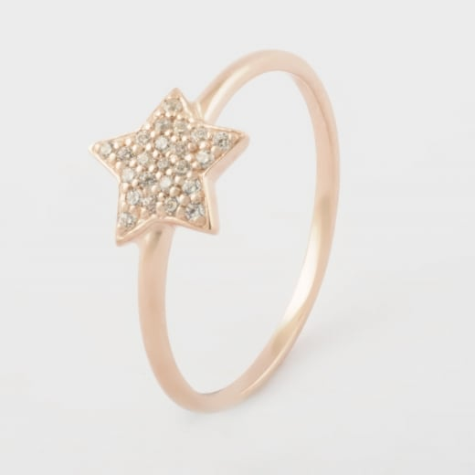 Virtue Exquisite Rose Gold CZ Star Ring