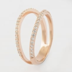 Rose Gold Double Strand Ring