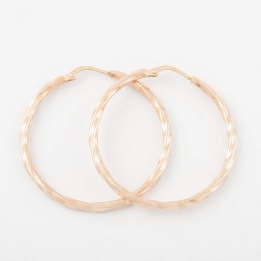Virtue Exquisite Rose Gold Twisted Hoops