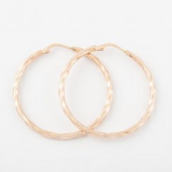 Rose Gold Twisted Hoops