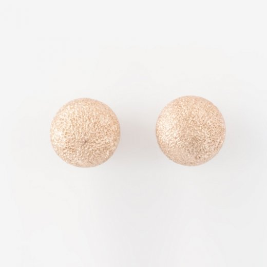 Virtue Exquisite Sand Blasted Round Stud Earrings 6mm