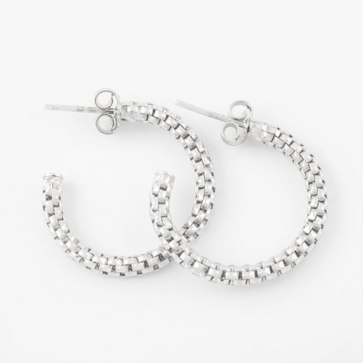 Virtue Exquisite Silver Coreana Hoop Earrings