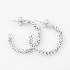 Silver Coreana Hoop Earrings