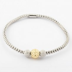 Silver Coreana Triple Bead Bangle