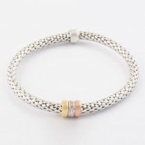 Silver Coreana Triple Ring Bangle