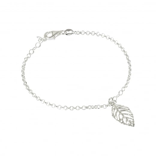 Virtue Exquisite Silver Leaf Chain Bracelet