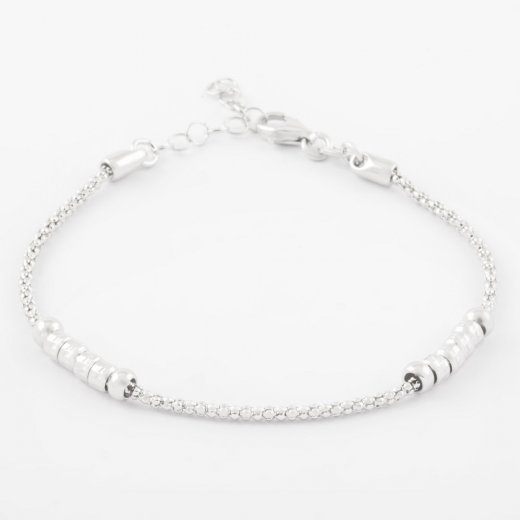 Virtue Exquisite Skinny Beaded Chain Bracelet
