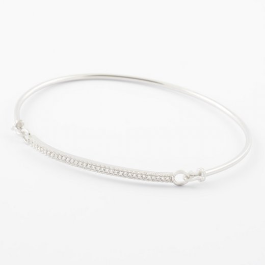 Virtue Exquisite Skinny CZ Set Bangle