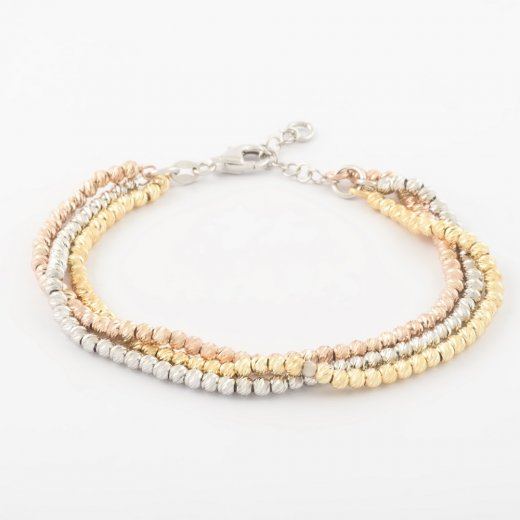 Virtue Exquisite Triple Bead Twisted Bracelet