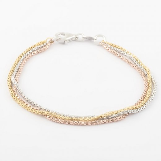Virtue Exquisite Triple Strand Bracelet