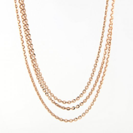 Virtue Exquisite Triple Strand Drop Necklace