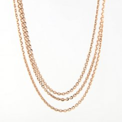 Triple Strand Drop Necklace