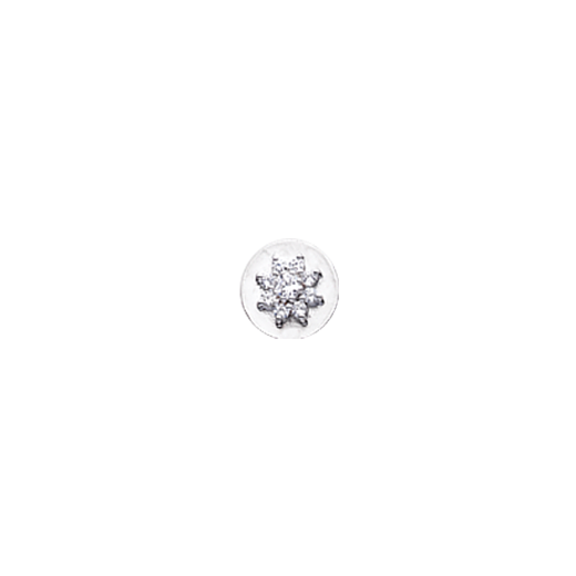 Virtue Keepsake 10mm Cubic Zirconia Flower Disc
