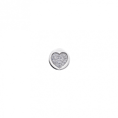 10mm Cubic Zirconia Heart Disc