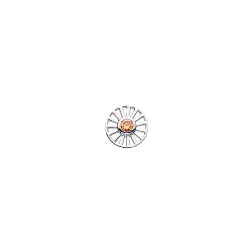 Virtue Keepsake 10mm Daisy Cut Out with Cubic Zirconia Disc
