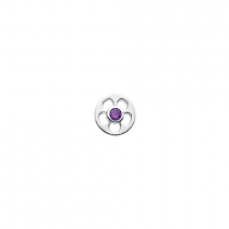 10mm Flower Cut Out with Cubic Zirconia Disc