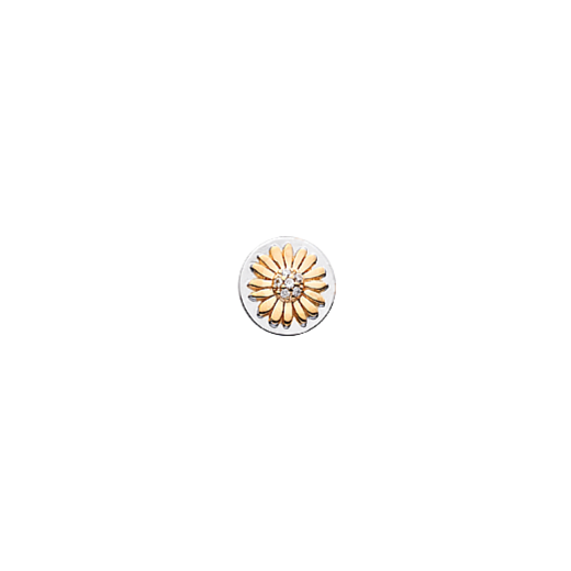 Virtue Keepsake 10mm Gold Daisy with Cubic Zirconia Disc