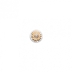 10mm Gold Daisy with Cubic Zirconia Disc