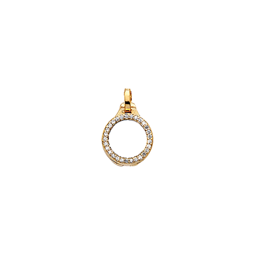 Virtue Keepsake 10mm Gold with Cubic Zirconia Locket