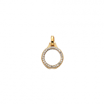10mm Gold with Cubic Zirconia Locket