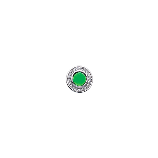 Virtue Keepsake 10mm Green Cubic Zirconia Disc