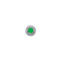 10mm Green Cubic Zirconia Disc