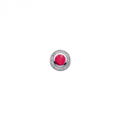 10mm Pink Cubic Zirconia Disc