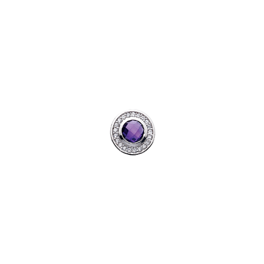 Virtue Keepsake 10mm Purple Cubic Zirconia Disc
