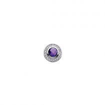 10mm Purple Cubic Zirconia Disc