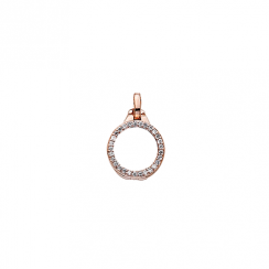 10mm Rose Gold with Cubic Zirconia Locket