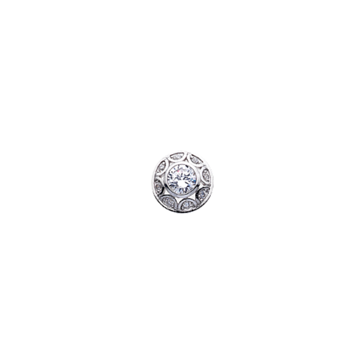 Virtue Keepsake 10mm Silver Dome Cubic Zirconia Disc