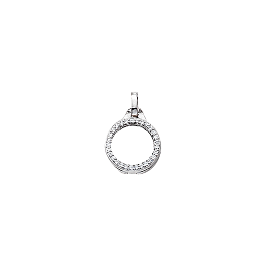 Virtue Keepsake 10mm Silver with Cubic Zirconia Locket