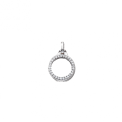 10mm Silver with Cubic Zirconia Locket