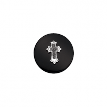 23mm Cross on Onyx Disc
