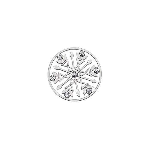 Virtue Keepsake 23mm Cubic Zirconia Snowflake Disc